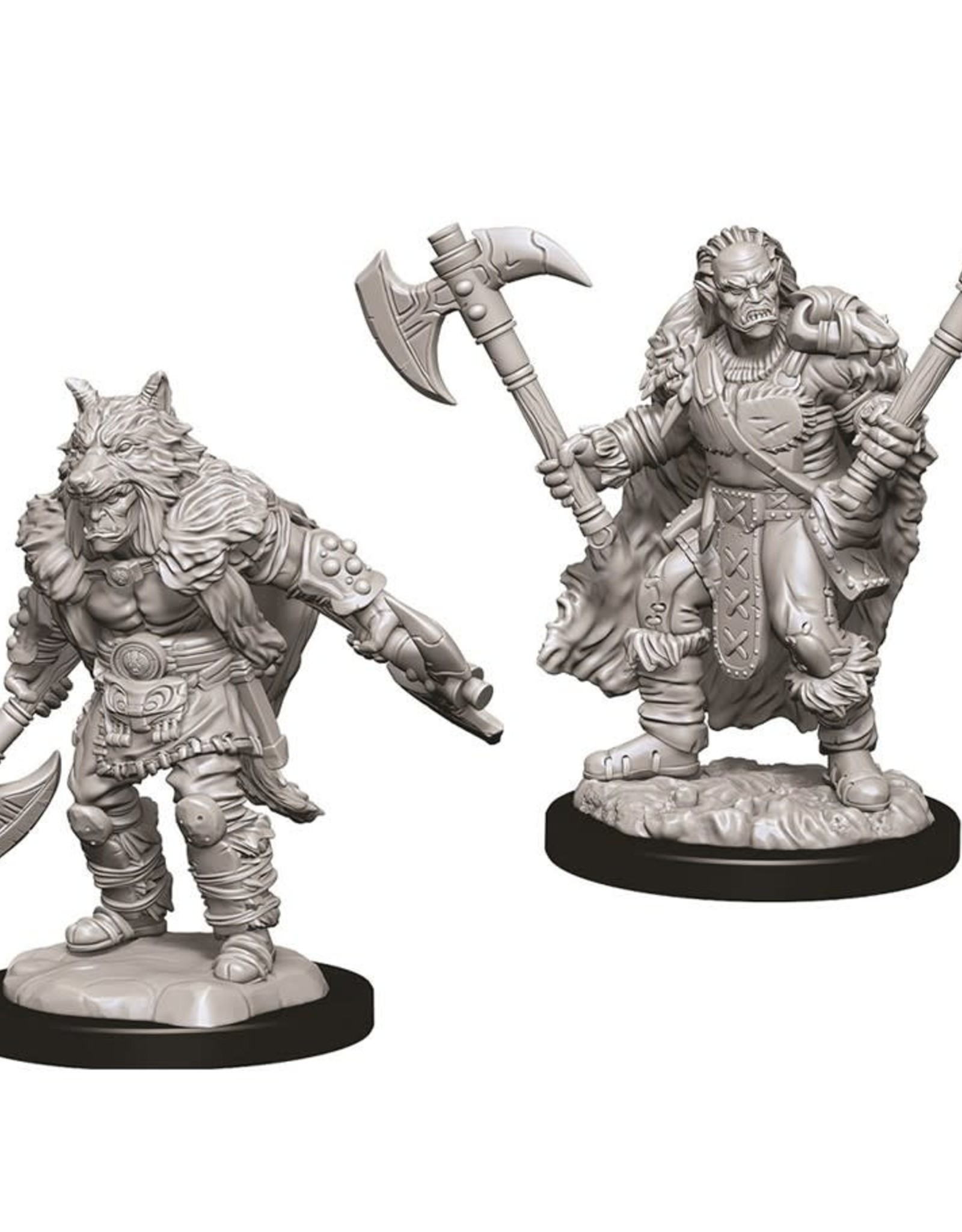 Wizkids D&D Unpainted Minis: Half-Orc Barbarian Male
