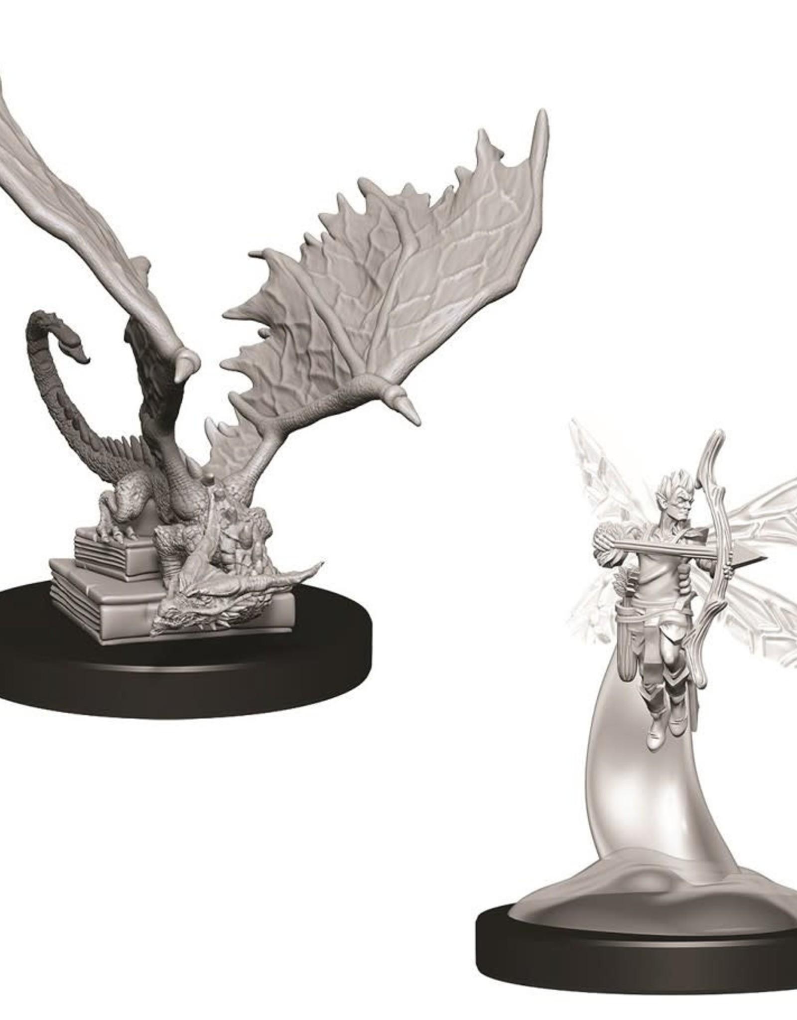 Wizkids D&D Nolzur's Unpainted Miniatures: Psuedodragon and Sprite