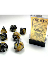 Chessex Polyhedral Dice Set: Gemini Black Gold/Silver (7)