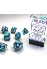 Chessex Polyhedral Dice Set: Gemini Steel Teal/White (7)