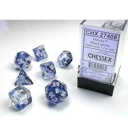 Chessex Polyhedral Dice Set: Nebula Black/White (7)