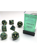 Chessex Polyhedral Dice Set: Scarab Dice Jade/Gold (7)