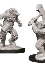 Wizkids D&D Unpainted Minis: Wereboar and Werebear
