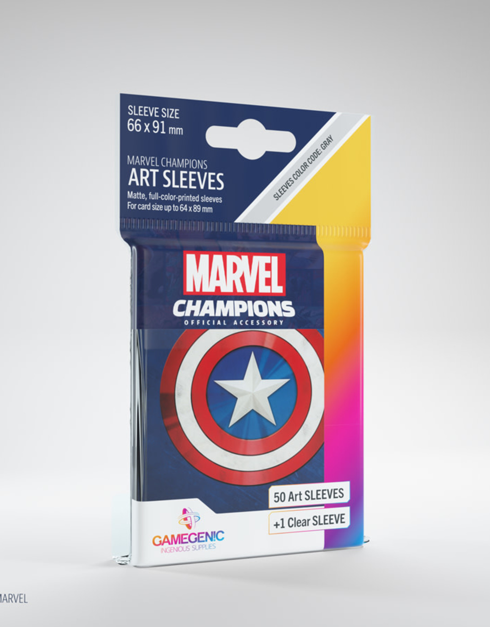 Marvel Champions Art Sleeves (50) Captain America