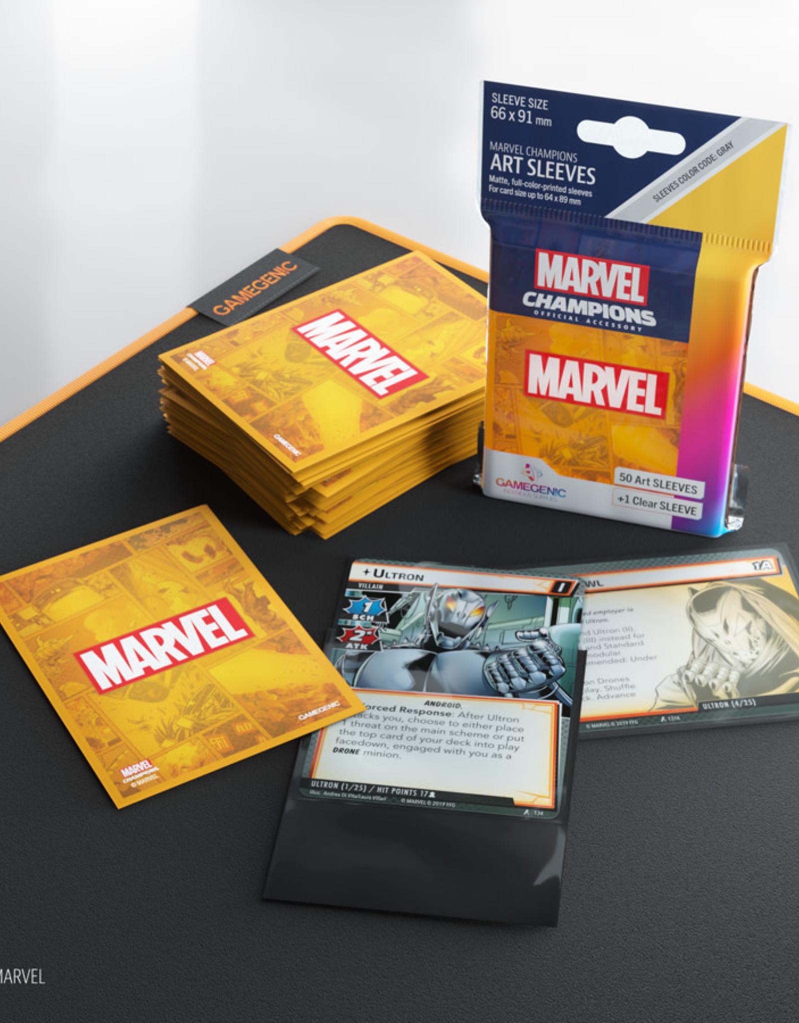 Marvel Champions Art Sleeves (50) Orange Marvel