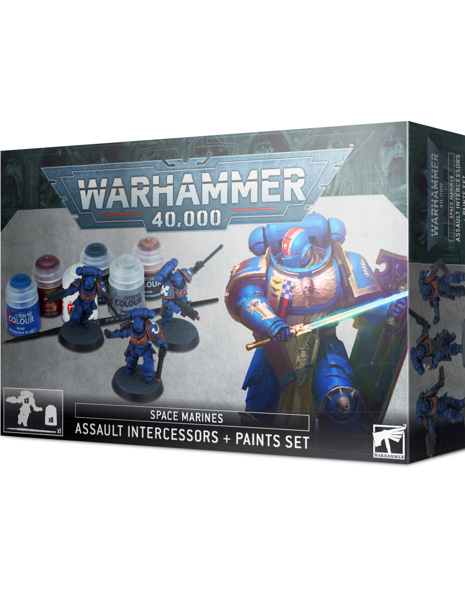 Games Workshop Warhammer 40K Space Marine Crucial Paint Set