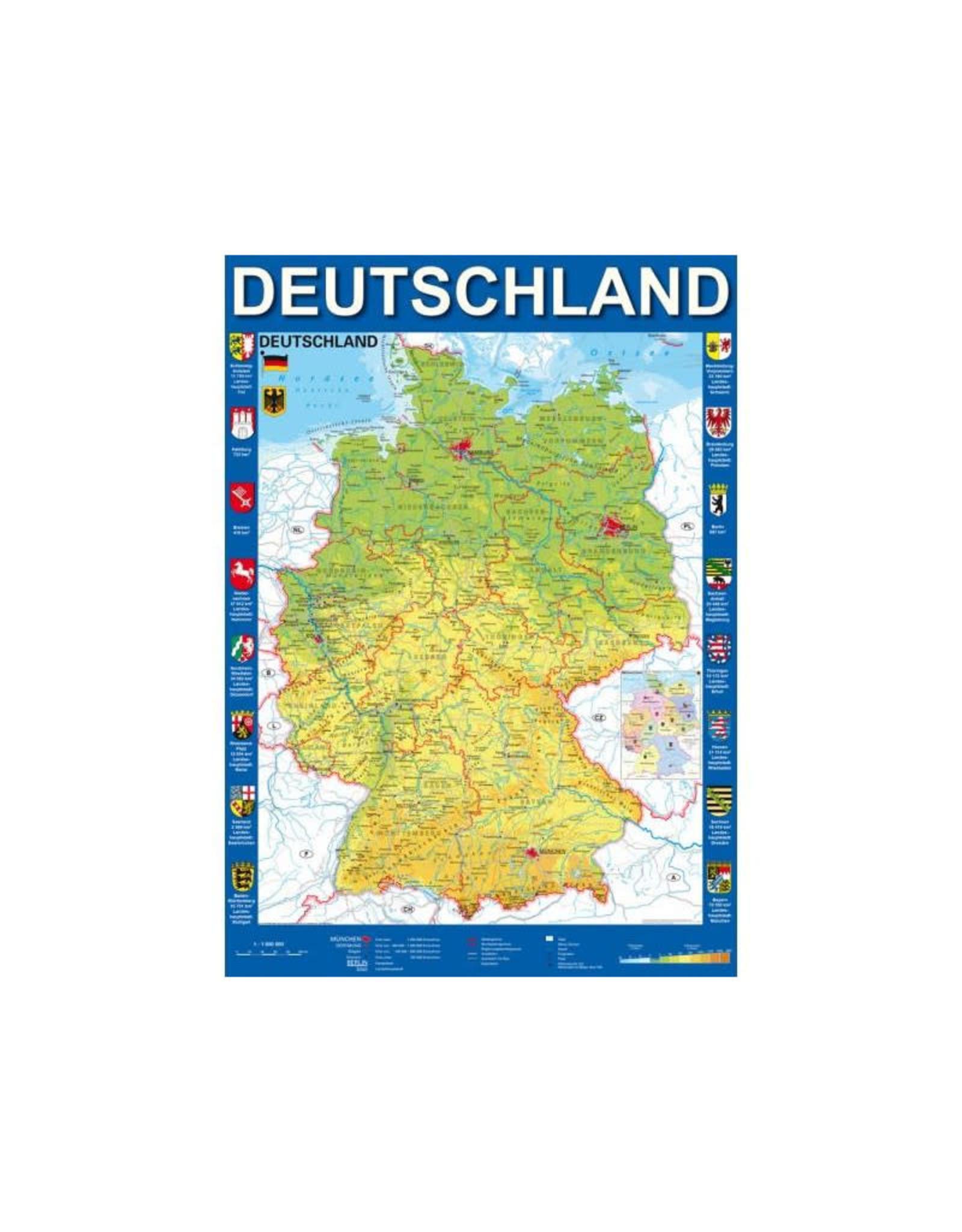 Schmidt Map of Germany 1000 PCS