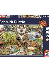 Schmidt Exotic World Map 2000 PCS