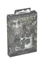 Q Workshop Forest Dice Set 3D Green/Black (7)