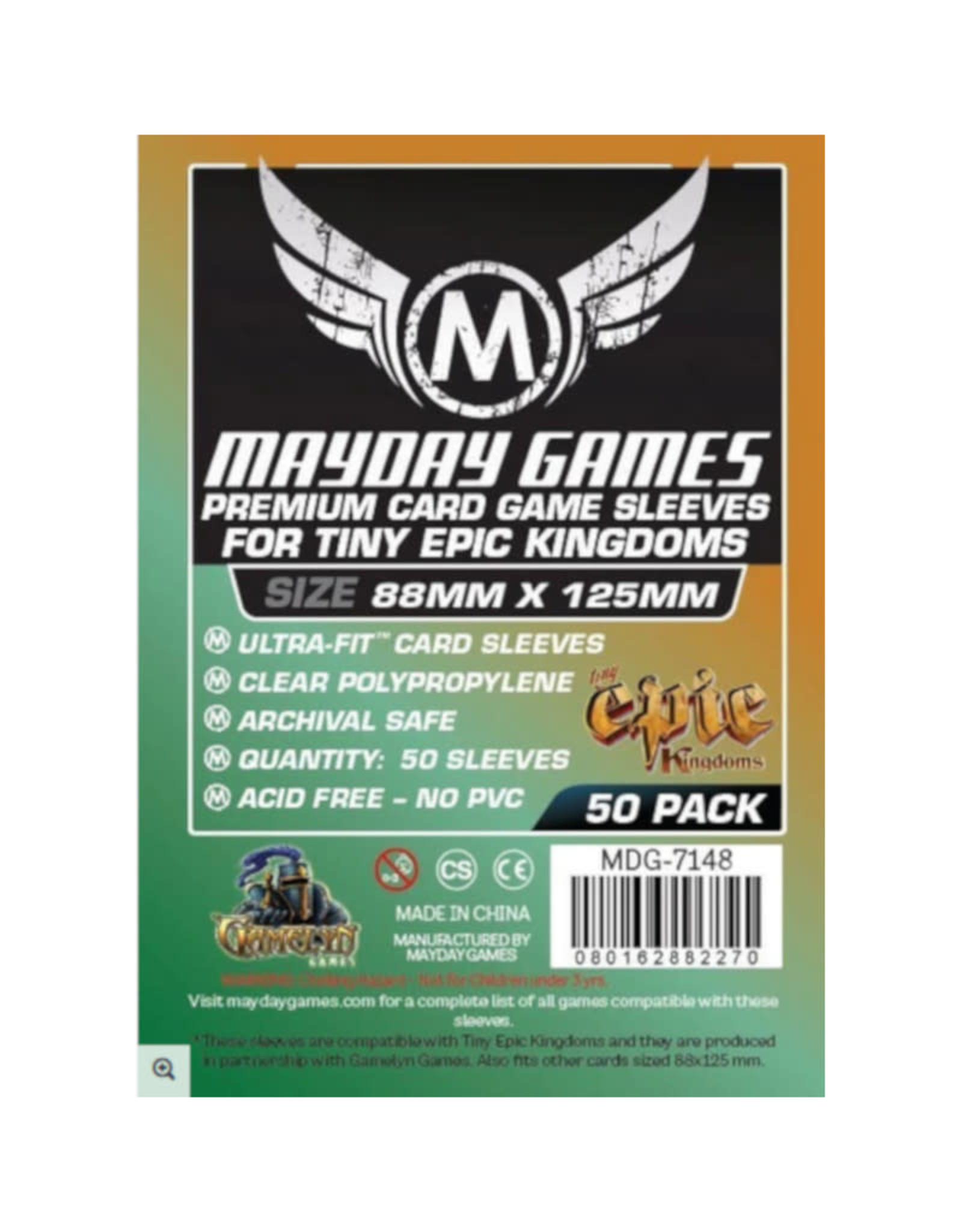 Mayday Games Sleeves: Premium Custom Tiny Epic Kingdoms Sleeves 88mm x 125mm (50)