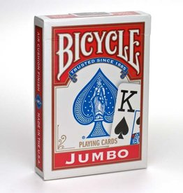 United States Playing Card Co Playing Cards: Bicycle Jumbo Index (Red or Blue)