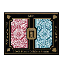 United States Playing Card Co Playing Cards: Kem Red and Blue Narrow (bridge) size
