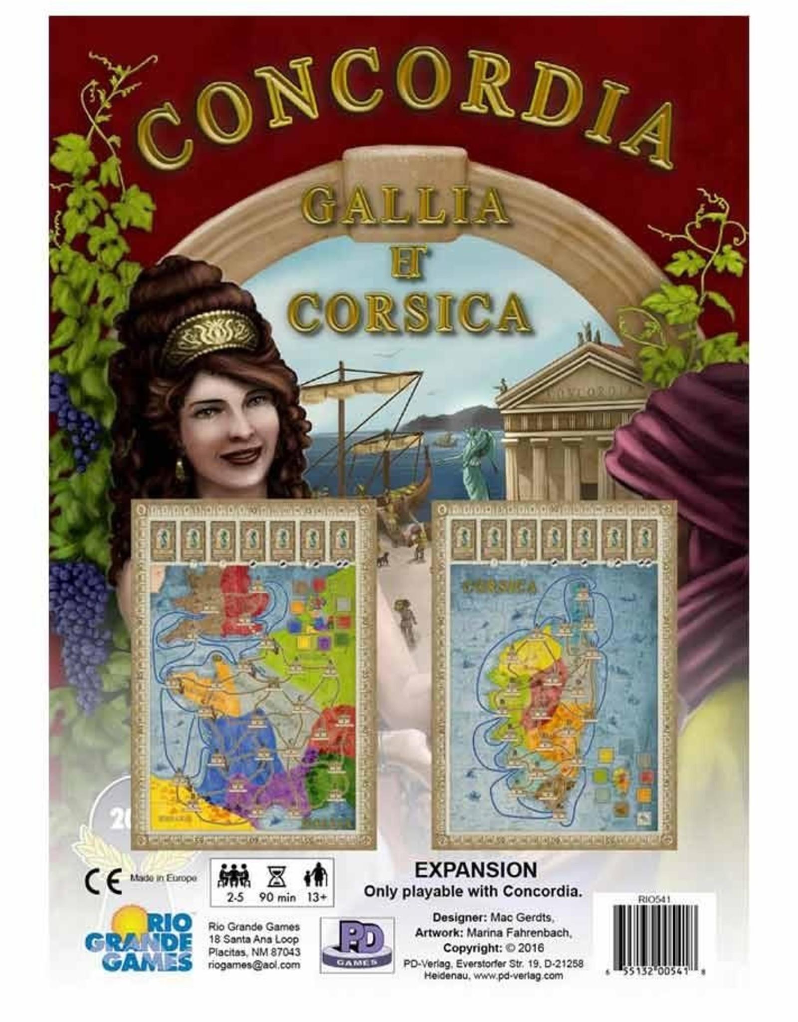 Rio Grande Games Concordia Gallia and Corsica Expansion