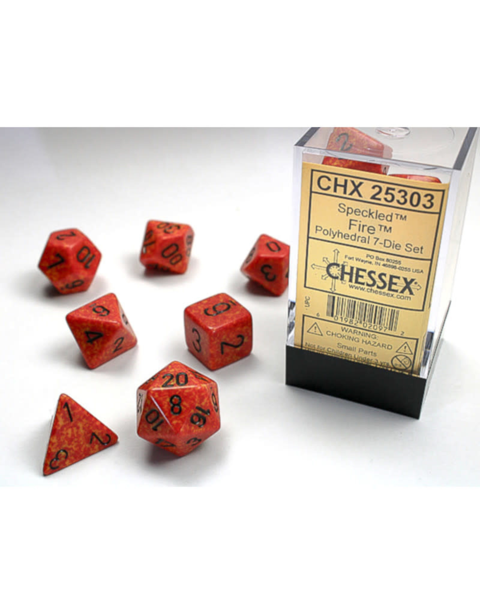 Chessex Polyhedral Dice Set: Speckled Fire (7)
