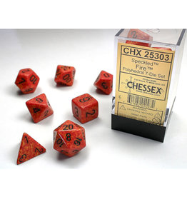 Chessex Polyhedral Dice Set: Speckled Poly Fire (7)