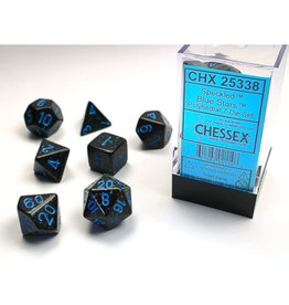 Chessex Polyhedral Dice Set: Speckled Poly Blue Stars (7)
