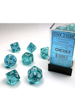 Chessex Polyhedral Dice Set: Translucent Teal (7)