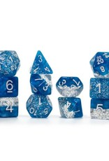 Gate Keeper Games Sparkle Dice Set: Blue (7 Polyhedral Dice)