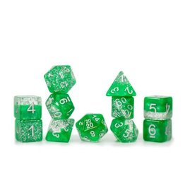Gate Keeper Games Sparkle Dice Set: Green (7 Polyhedral Dice)