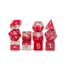 Gate Keeper Games Sparkle Dice Set: Red (7 Polyhedral Dice)