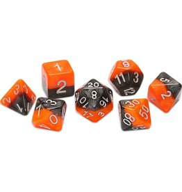 Gate Keeper Games Polyhedral Dice Set: Halfsies All Hallow's Eve