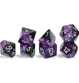 Gate Keeper Games Halfsies Dice: Panther (7 Polyhedral Dice Set)