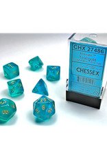 Chessex Polyhedral Dice Set: Borealis Teal/Gold (7)