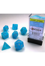 Chessex Lab Dice Set: Menagerie Luminary Sky/Silver (7)