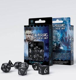 Q Workshop Classic RPG Dice Set Black/White (7)