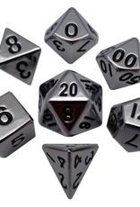 Metallic Dice Games Polyhedral Dice Set: 16mm Silver Metal
