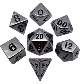 Metallic Dice Games METAL DICE MET POLY SILVER