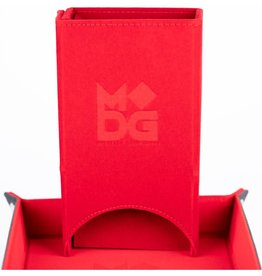 Metallic Dice Games Fold Up Velvet Dice Tower: Red