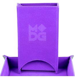 Metallic Dice Games Fold Up Velvet Dice Tower: Purple