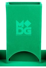 Metallic Dice Games Fold Up Leather Dice Tower: Green