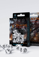 Q Workshop Dragons Dice Set White/Black (7)