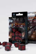 Q Workshop Dragons Dice Set Black/Red (7)