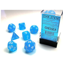 Chessex DICE POLY CHX27416 FROSTED CARRIBEANBLUE