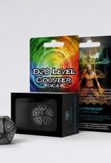 Q Workshop Card Game Level Counter D20 Black/White