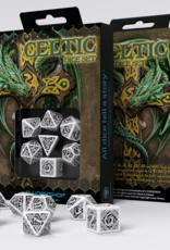 Q Workshop Celtic Dice Set 3D White/Black (7)