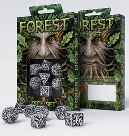 Q Workshop DICE POLY QWS ENGRAVED FOREST WHITE