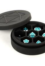 Metallic Dice Games Silicone Round Dice Case: Black