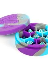 Metallic Dice Games Silicone Round Dice Case: Purple/Grey/Light Blue