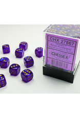Chessex D6 Dice: 12mm Borealis Purple (36)