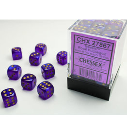 Chessex D6 Dice: 12mm Borealis Purple (36)