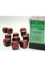 Chessex D6 Dice: 16mm Speckled Strawberry (12)