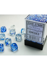 Chessex D6 Dice: 12mm Nebula Dark Blue/White/Black (36)