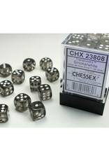 Chessex D6 Dice: 12mm Translucent Smoke (12)