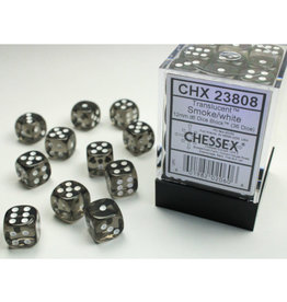 Chessex DICE D6 12MM CHX23808 TRANSLUCENT SMOKE