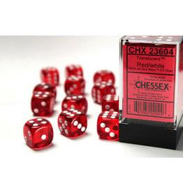 Chessex D6 Dice: Translucent 16mm (12) Red