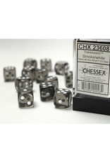 Chessex D6 Dice: 16mm Translucent Smoke (12)